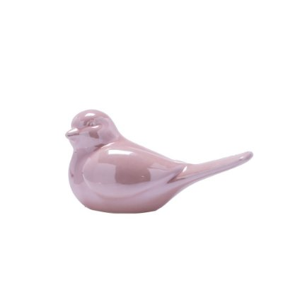 Pássaro rosa cintilante em cerâmica M F359510