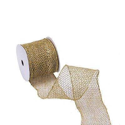 Fita aramada telada colmeia ouro A109894