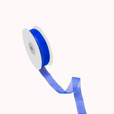 Fita organza azul bic A209909 1,90cm x 50m