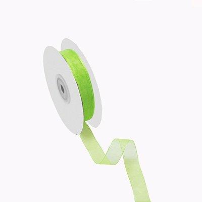 Fita organza verde maçã A209915 3,81cm x 50m