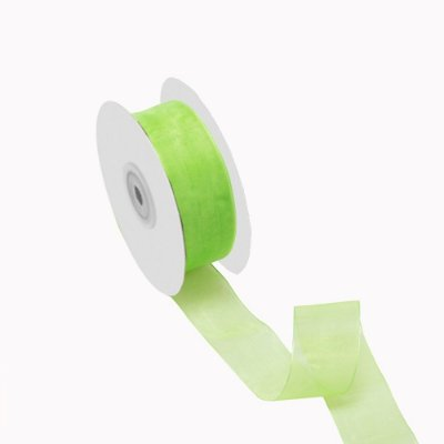 Fita organza verde maçã A209916 3,81cm x 50m