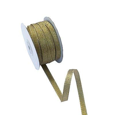 Fita metálica dourada 9mm A100676