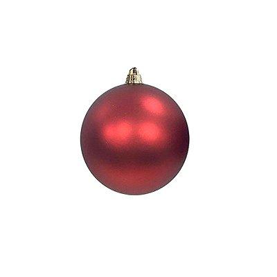 Bola vermelha fosca 8cm c/4un - G150951