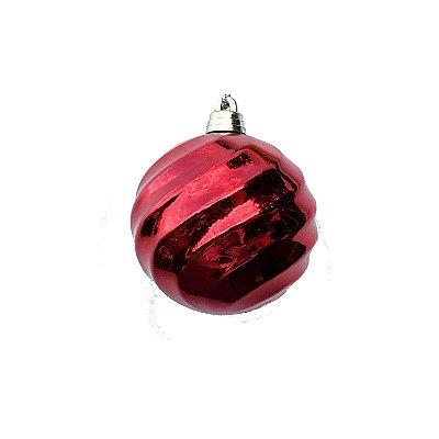 Bola Vermelha Espiral 10cm - G150978