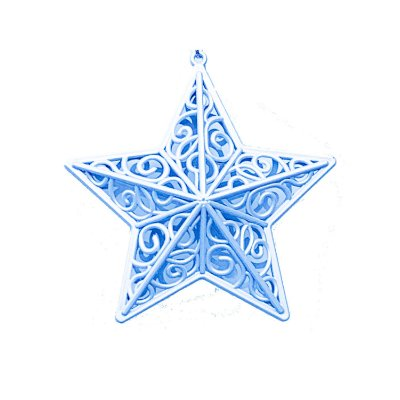 Estrela Azul Arabesco 10x10cm - G150987