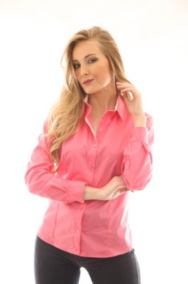 Camisa Slim Rosa