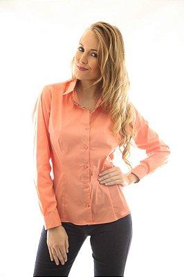 Camisa Feminina Slim Papaya