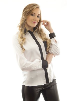 Camisa Cetim Black & White