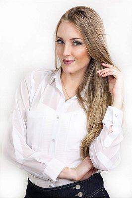 Camisa Feminina Voil Branca