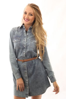 Chemise Jeans Craquelado