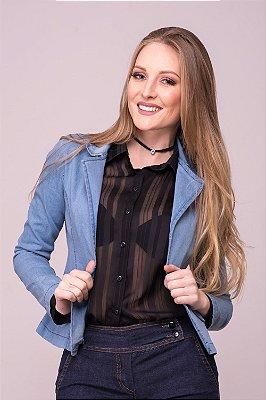 Blazer Jeans Feminino