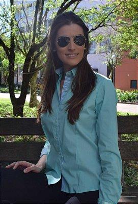 Camisa Feminina Verde Água