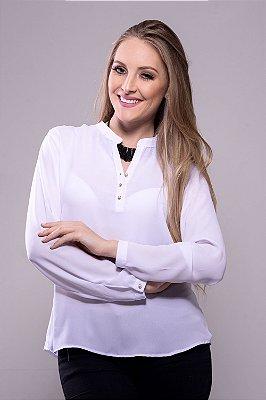Camisa Bata Botões Pérola Branca