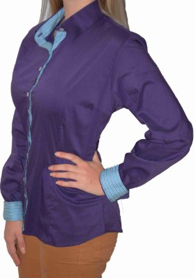 Camisa Feminina Social Lisa Azul