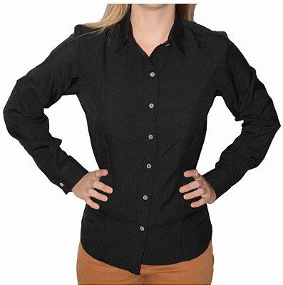 Camisa Preta Prática (amassa pouco)