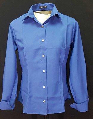 Camisa Azul Clássica Prática