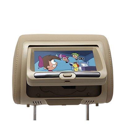 Encosto Cabeça Com Tela Leitor De Dvd Usb Games Ir
