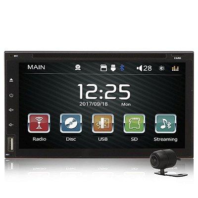 """Dvd Automotivo 2 Din Full Touch 6,95"""" com Espelhamento Android"""