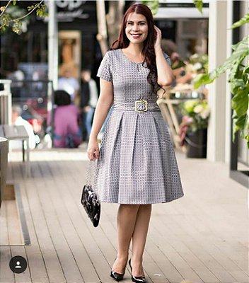 Vestido Antonella Preto - Moda Executiva Evangélica