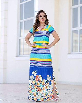 Vestido Rosália - Moda Evangélica Executiva