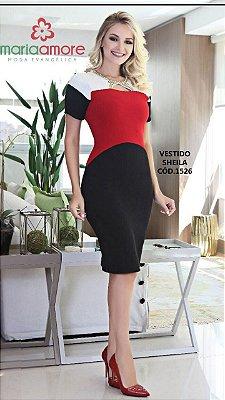 Vestido Sheila - Moda Evangélica Executiva