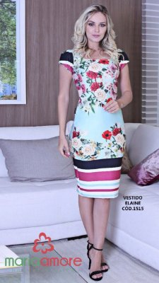 Vestido Elaine - Moda Evangélica Executiva