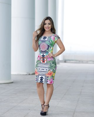 Vestido Nathalia - Moda Evangélica Executiva
