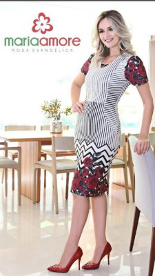 Vestido Isadora - Moda Evangélica Executiva