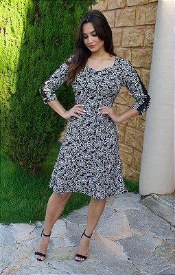 Vestido Thaline - Moda Evangélica Executiva