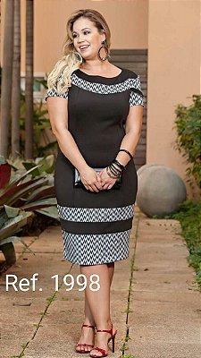 Vestido Elenize - Tamanho 50 - Moda Evangélica Executiva