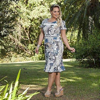 Vestido Lindaura - Tamanho 46 - Moda Evangélica Executiva