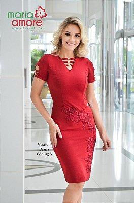 Vestido Diana - GG - Moda Evangélica Executiva