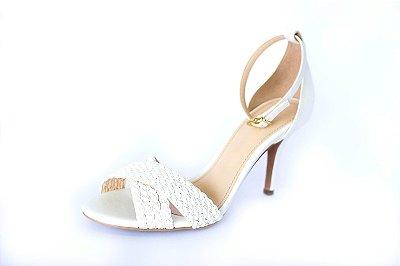 Sandália branca – Moda Executiva e Evangélica - Amoii