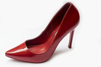 Scarpin vermelho verniz de bico fino – Moda Executiva e Evangélica  - Amoii