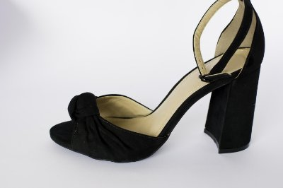 Sandália Preta– Moda Executiva e Evangélica – Amoii