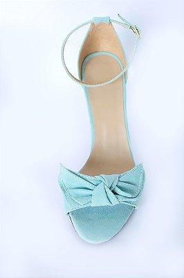 Sandália azul celeste com laço – Moda Executiva e Evangélica – Amoii