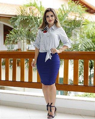 Conjunto Eleonora Azul - Moda Evangélica Executiva