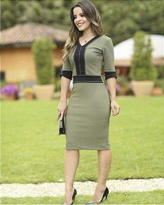 Vestido Sueli - Tamanho 38 - Moda Evangélica Executiva