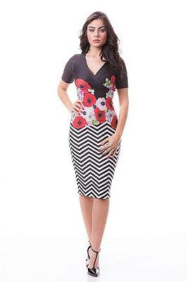Vestido Vania - Tamanho 40 - Moda Evangélica Executiva