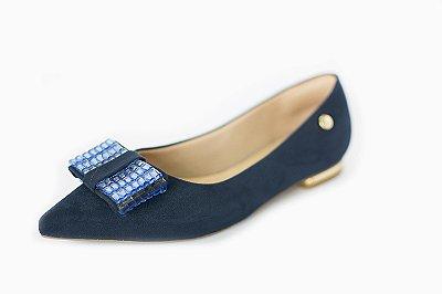 Sapatinha azul com laço – Moda Executiva e Evangélica – Amoii
