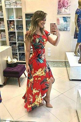 Vestido Angela Vermelho - Moda Evangélica Executiva
