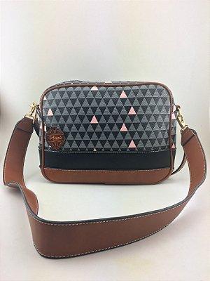 Bolsa transversal Inspired Triangle Black Schutz - Moda Evangélica e executiva -Amoii