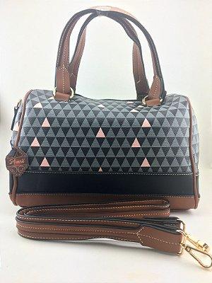 Bolsa inspired bowling triangle Black da Schutz -Moda Evangélica e executiva - Amoii
