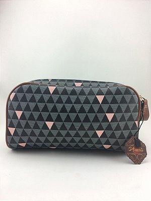 Necessaire Inspired Triangle Black Schutz - Moda evangélica -Amoii