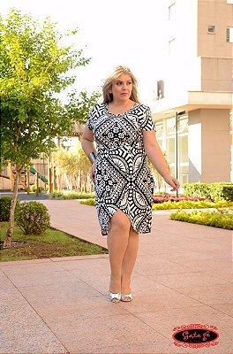 Vestido Rúbia - Moda Evangélica Executiva - Plus Size