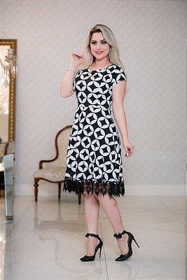 Vestido Cecylia - Moda Evangélica Executiva - Plus Size