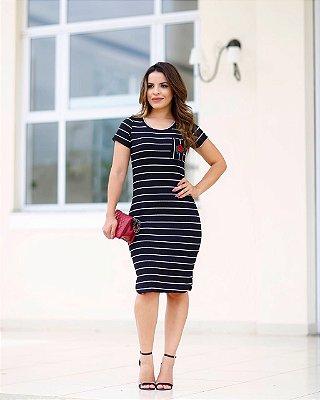 Vestido Suzana - Moda Evangélica Executiva