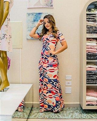 Vestido Berenice Rose - Moda Evangélica Executiva