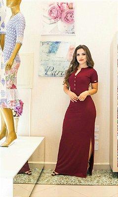 Vestido Mariana Bordô - Moda Evangélica Executiva