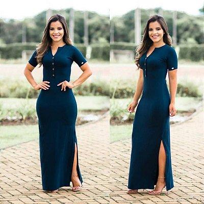Vestido Mariana Preto - Moda Evangélica Executiva